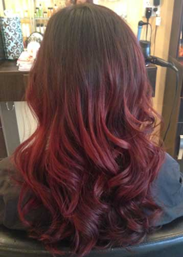 Oceanside Balayage Red Hair Color 1 The Hair Parlour